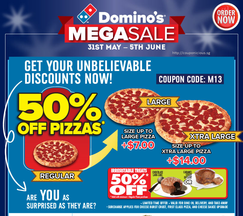 Dominos bg coupons