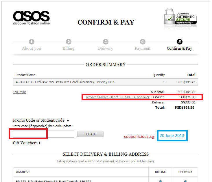 Asos coupon discount