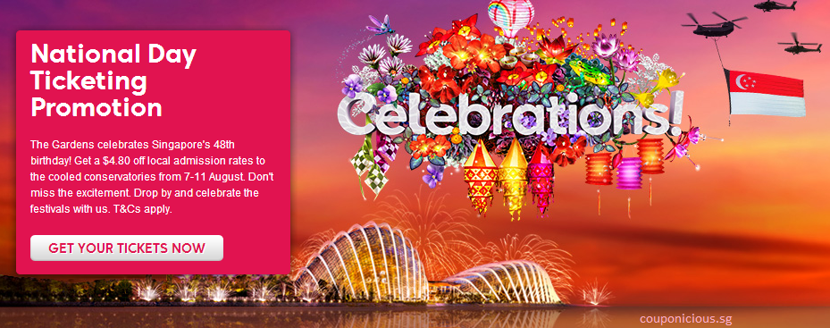 Gardens by the bay national day promotion off local admission rates - Garden by the bay fee ...