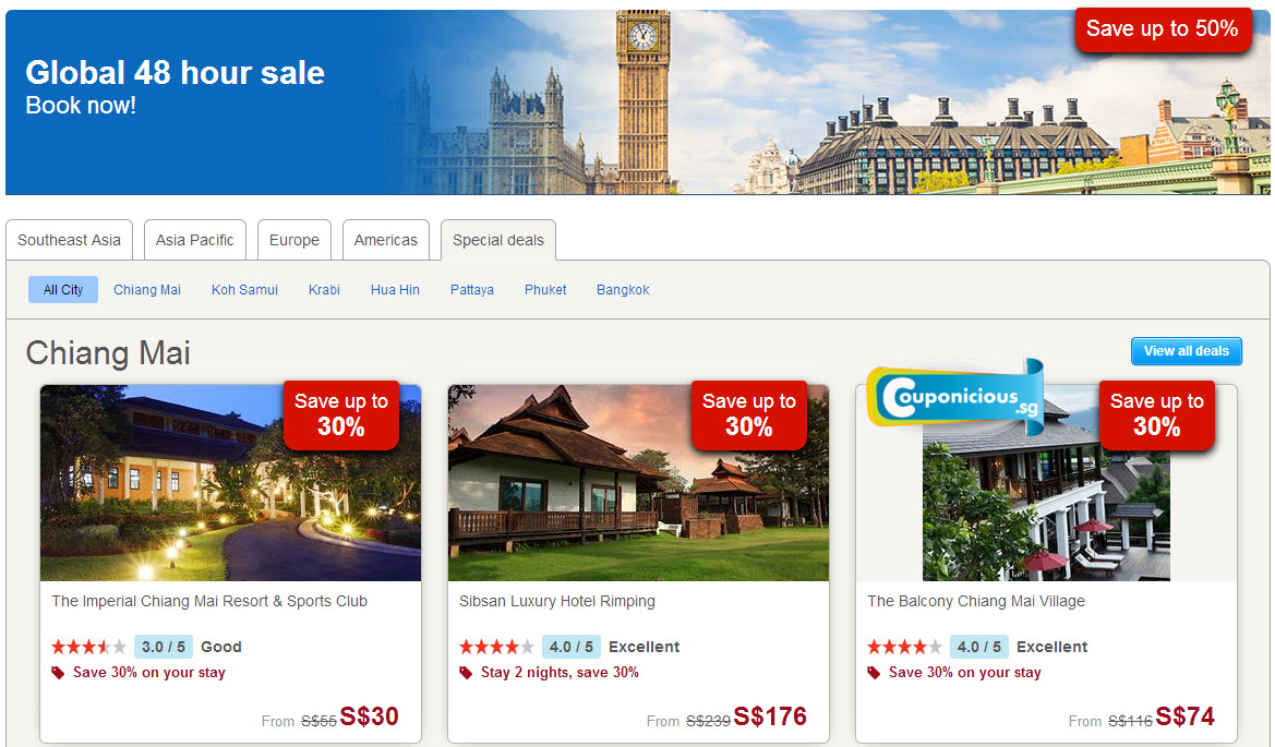 Discount coupons hotels.com