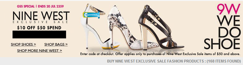 Nine west coupon code