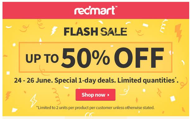 redmart flash sales