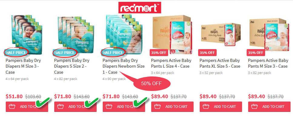 redmart baby diapers 50% OFF