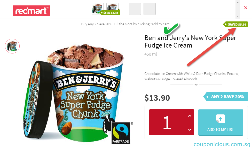 redmart ben and jerry ice cream promotions 2016